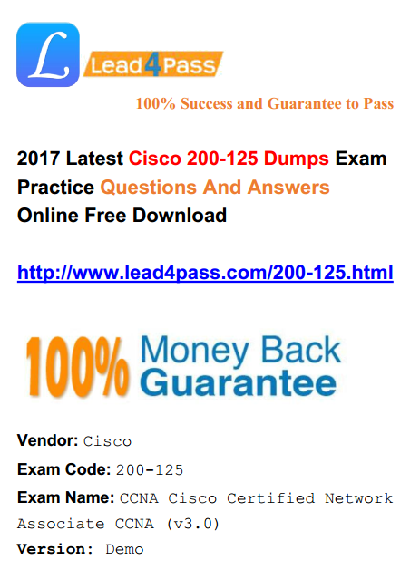 200-125 ccna pdf - Lead4pass Latest Dumps | Top Passing