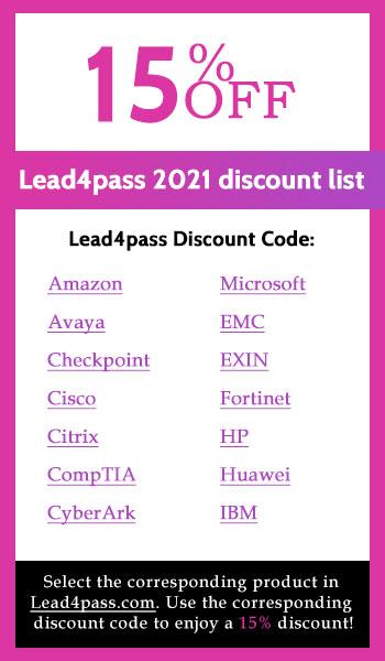 lead4pass discount code list 2021